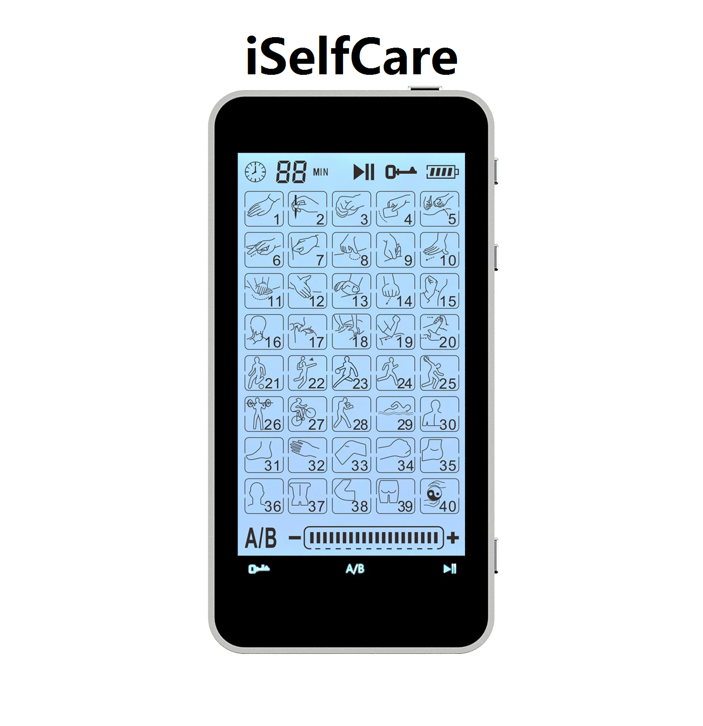 2020 Version 40 Modes T40AB1 iSelfCare® TENS unit & Muscle Stimulator - 2 Year Warranty - HealthmateForever