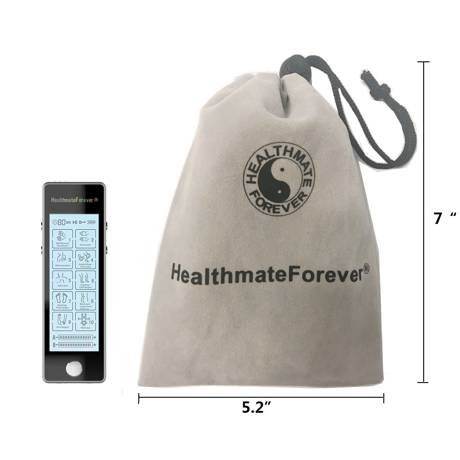 Touch Screen TS10ABV1 TENS Unit & Muscle Stimulator - HealthmateForever.com