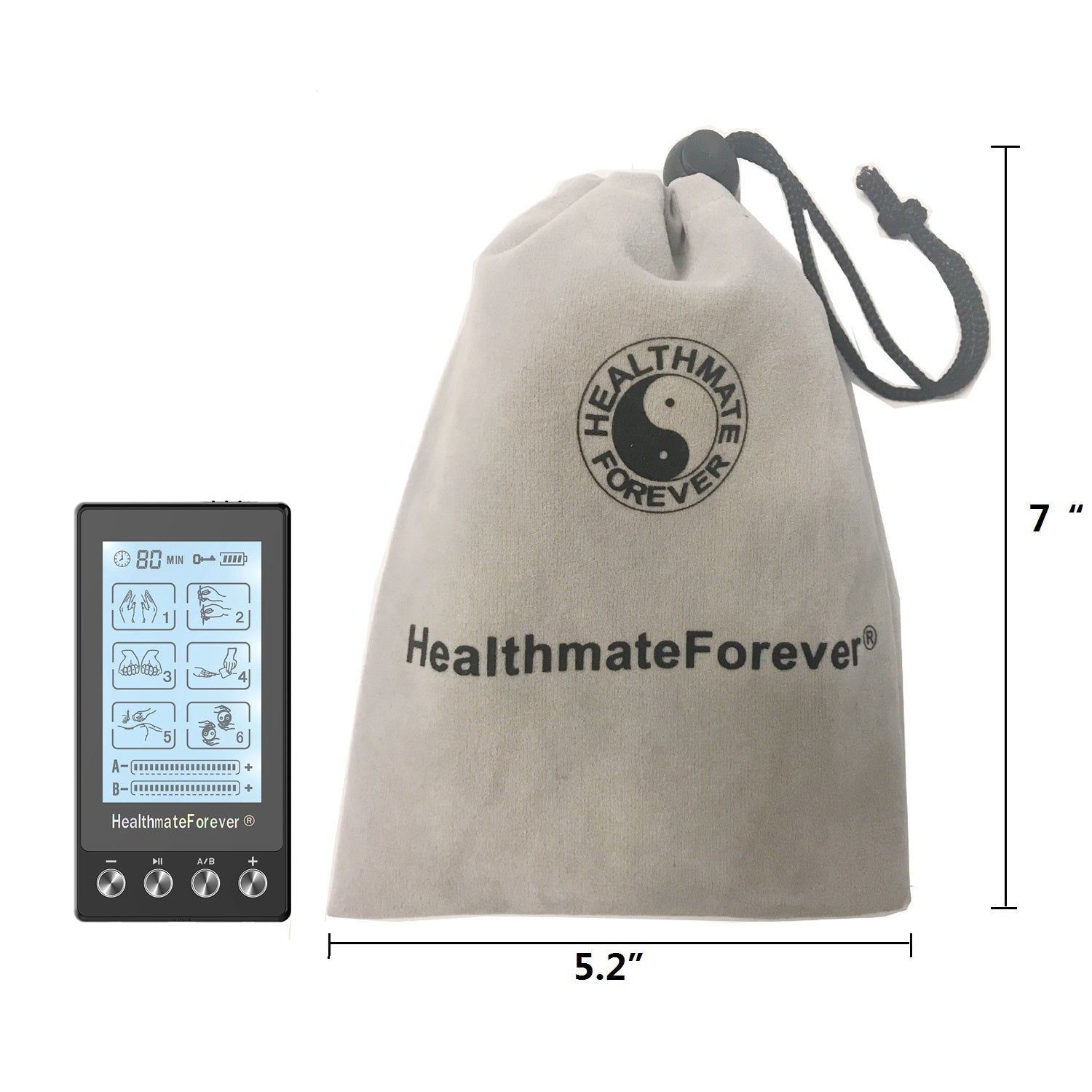 Touch Screen TS6AB TENS Unit & Muscle Stimulator - HealthmateForever.com
