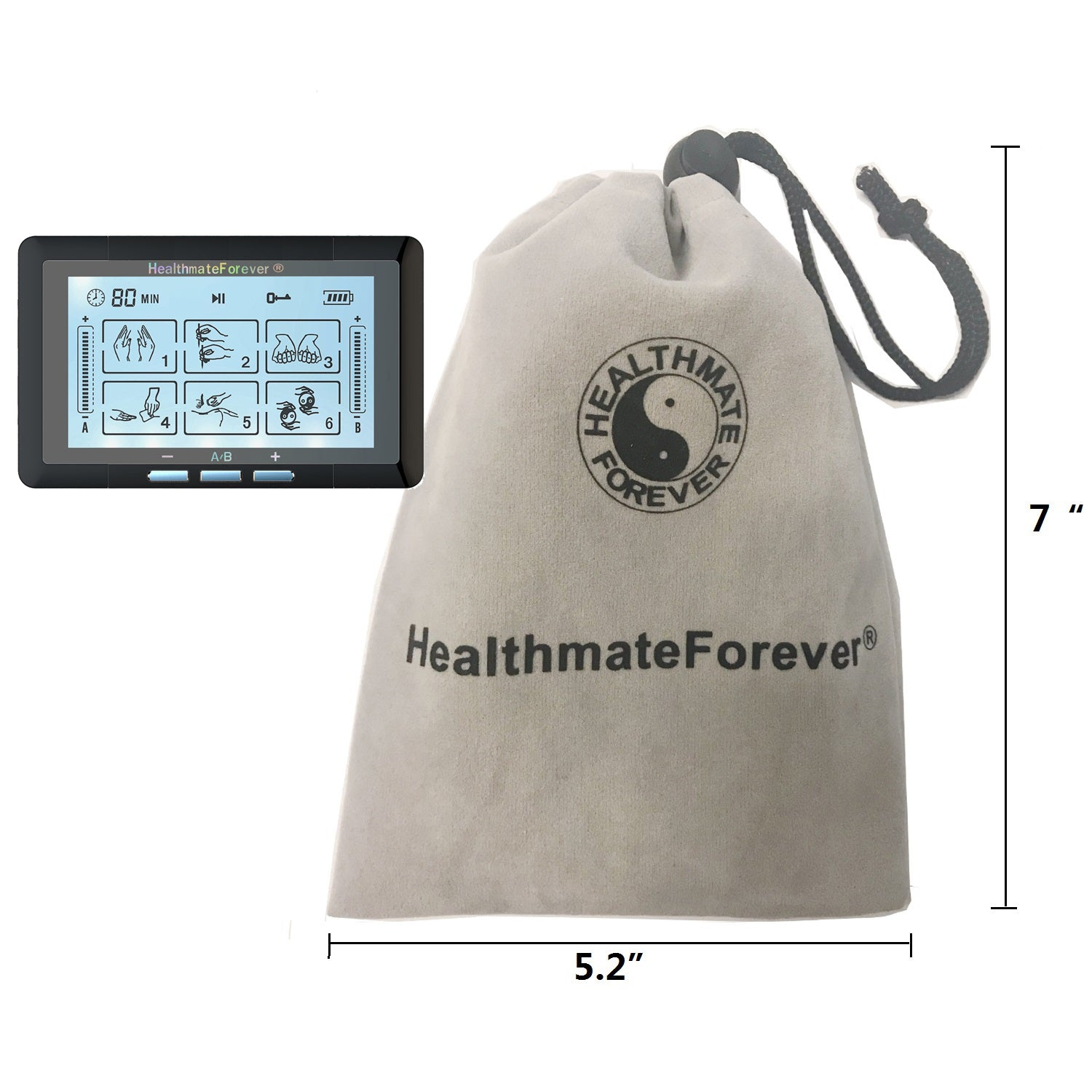 Touch Screen TS6ABH TENS Unit & Muscle Stimulator - HealthmateForever