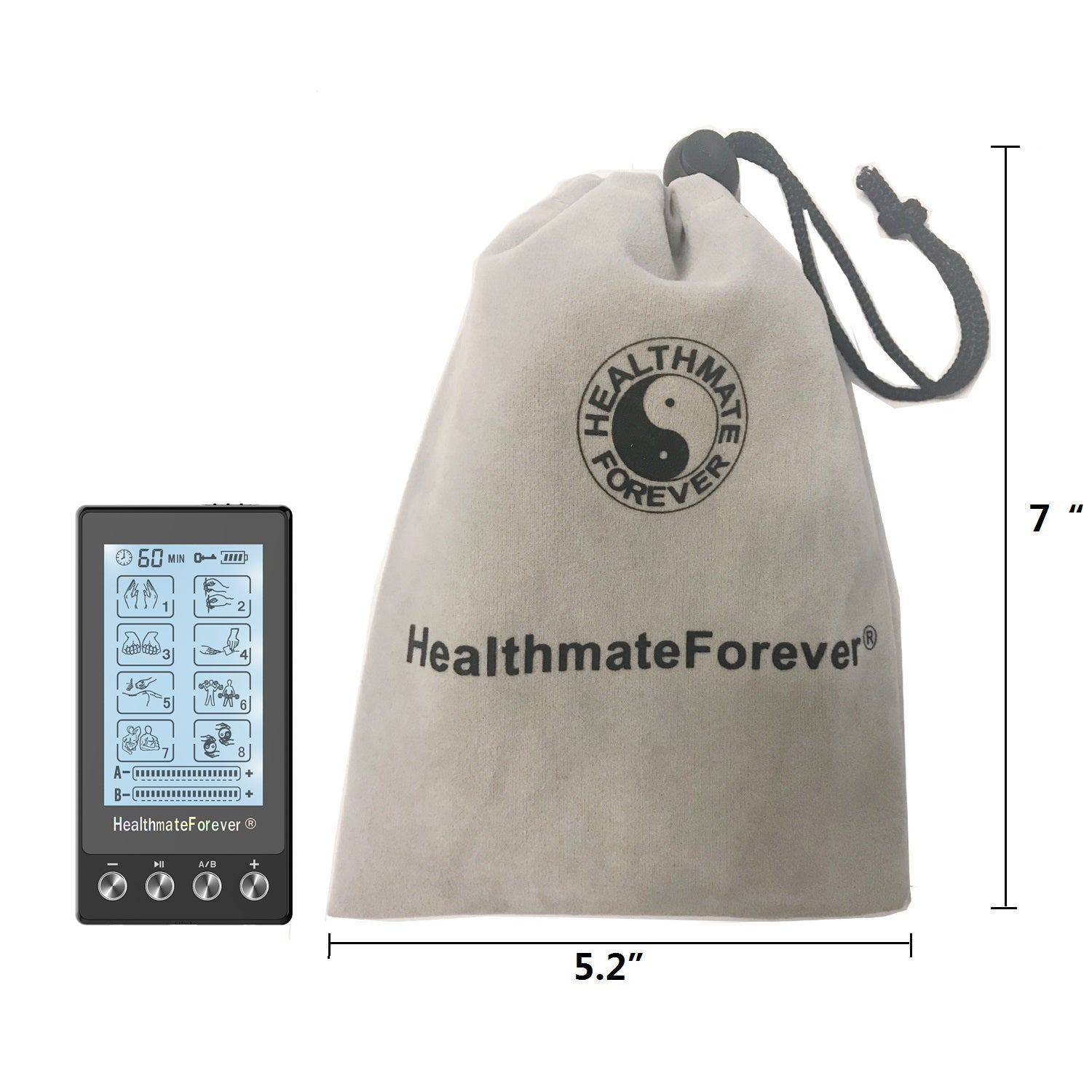 Touch Screen TS8AB TENS Unit & Muscle Stimulator - HealthmateForever