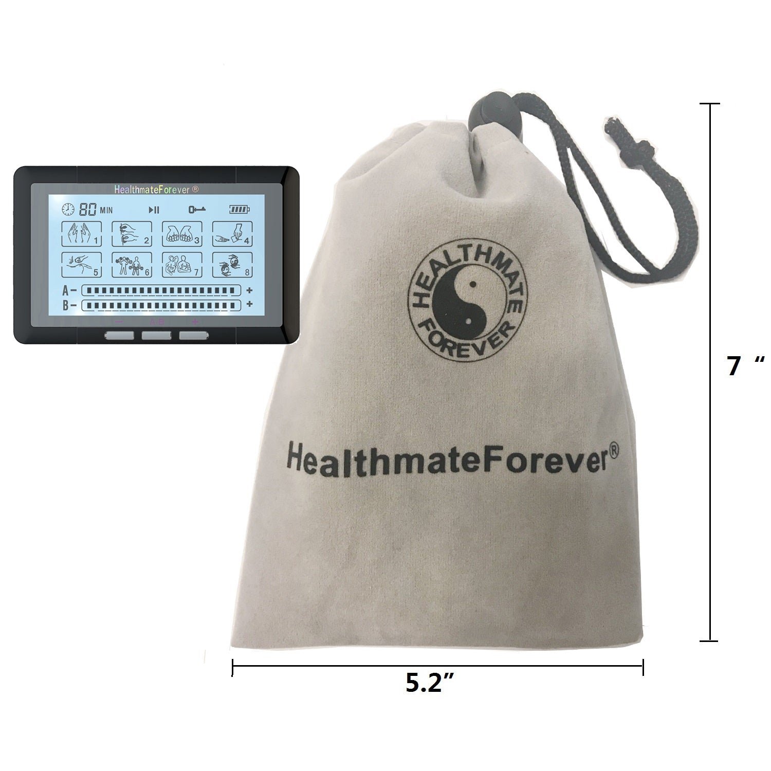 Touch Screen TS8ABH TENS Unit & Muscle Stimulator - HealthmateForever.com