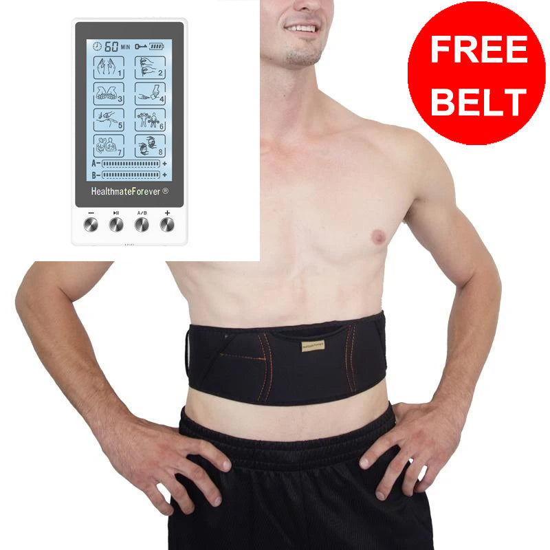 Free Massage Belt + Touch Screen TS8AB TENS Unit & Muscle Stimulator - HealthmateForever