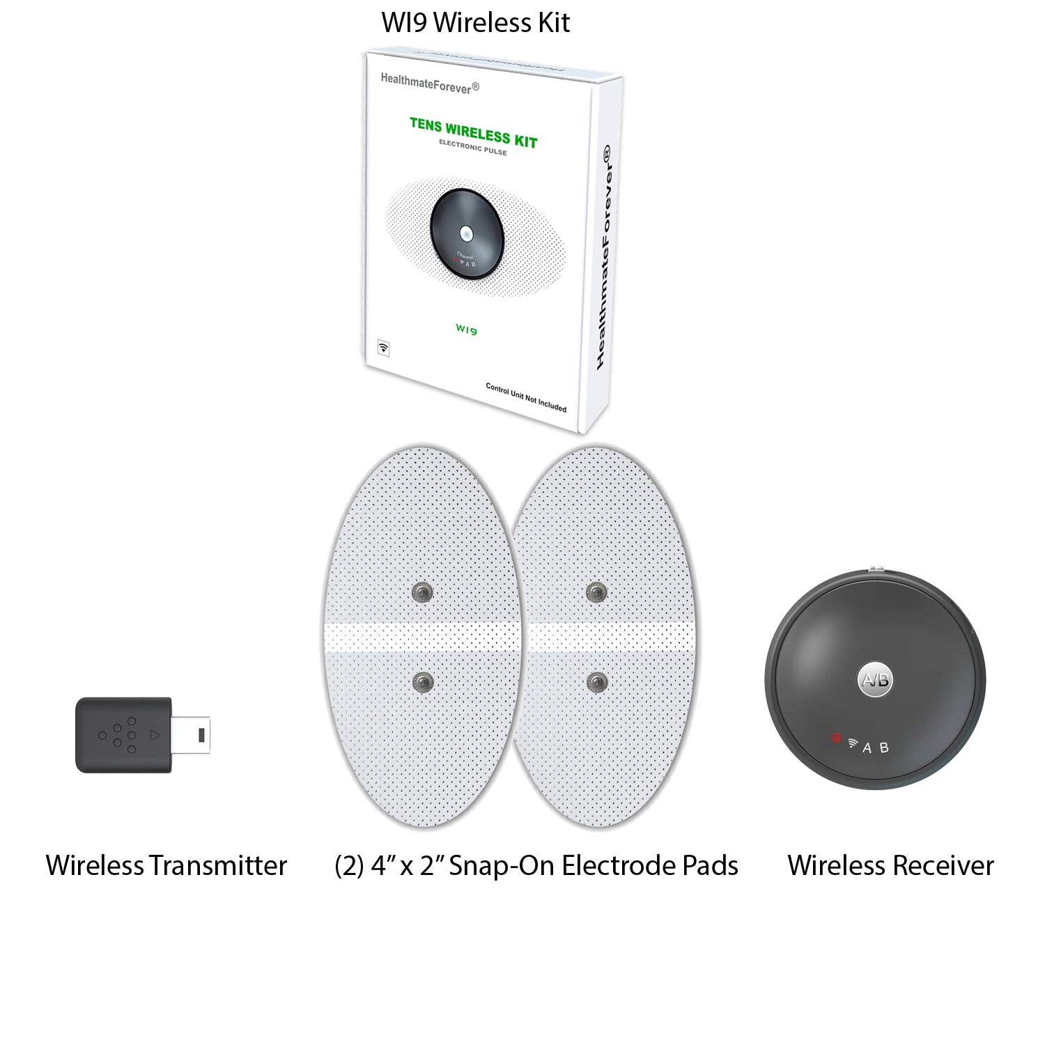2 Wi9 Wireless Kits with 4 Electrode Pads - HealthmateForever