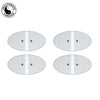 2 Pairs (4 Pcs) White Large Oval Electrode Patches Pads For Wi9 - HealthmateForever