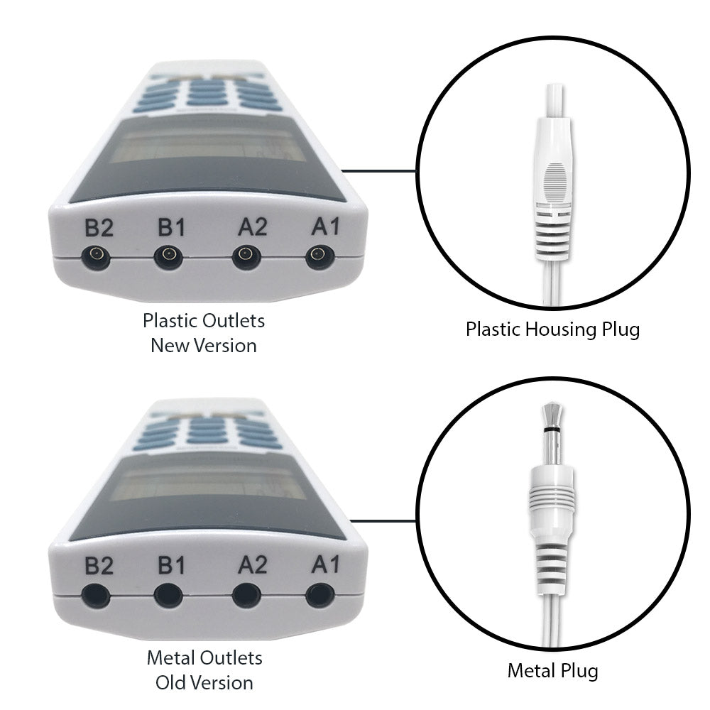2 Sets of Pin-Insert Plastic Housing Dual-Leads Electrode Wires - HealthmateForever
