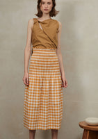 Rossie Skirt Orange Check