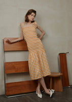 Lela Dress Orange Check