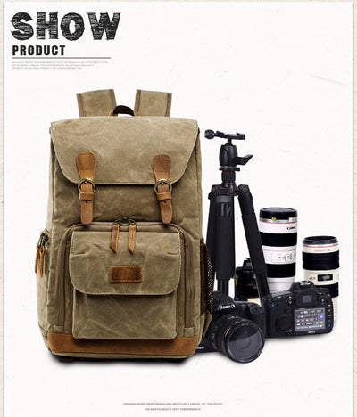 Camera Bag Batik Canvas Waterproof   for Canon/ Sony/Nikon