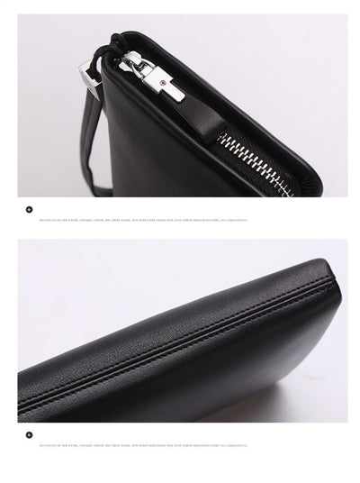 Clutch Genuine Leather for Men's Long Wallet