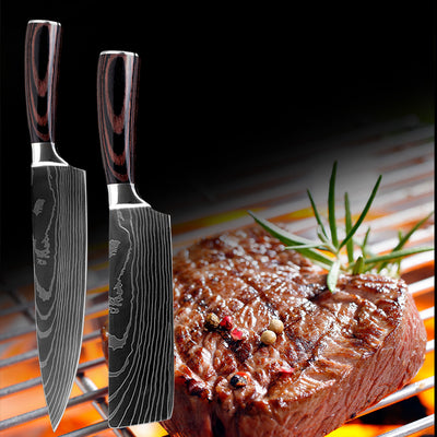 Best Kitchen Knives Stainless Steel  Scissors Cooking Tools