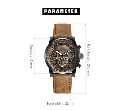 IBSO Brand Skull Quartz Watch for Men   Wristwatch Clocks Hiphop relogios masculino