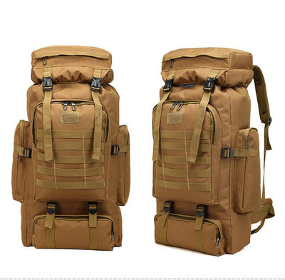 Hiking Backpack Tactical Hiking Camping Rucksack 80L