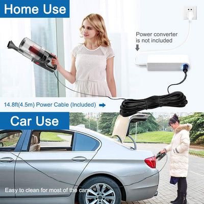 Handheld Vacuum Car Lightweight Portable DC 12V 150W 6000PA