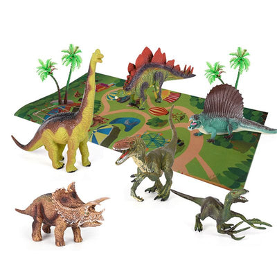 Dinosaur Toy Figure w/ Activity Play Mat & Trees