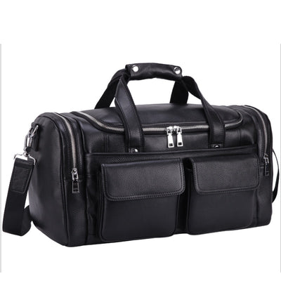 "Travel Bag Genuine Leather100% Soft Cowhide 17"" Laptop"