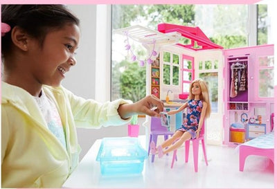 Barbie Dream House Doll House Set  Baby Girls Toys