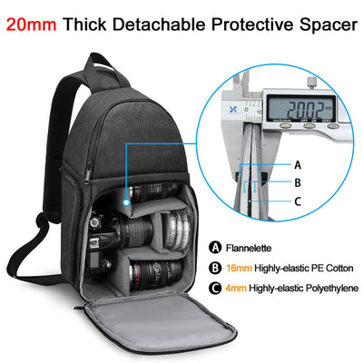 Camera Bag  Small  Sling Crossbody Waterproof