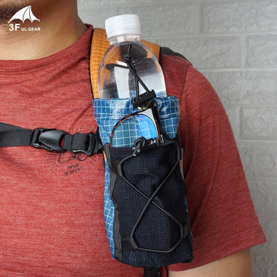 Water Bottle Bag To Your Backpack Strap Camping Hiking
