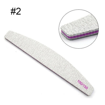 Nail File Half Moon Shaped Washable