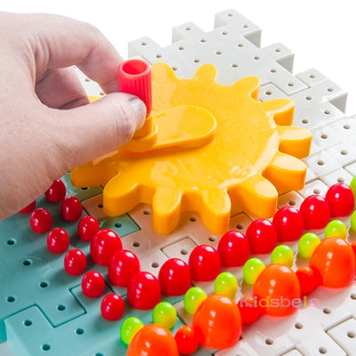 Building Blocks Kids 3D Gears Block DIY Toy