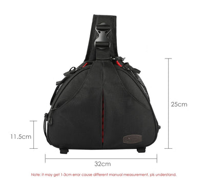 Camera Bag Triangle Shoulder  Sling DSLR 2Lens