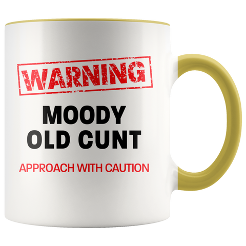 Image of Moody Old Cunt Color Accent Mug
