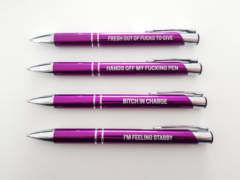 Pissed Off Purple Pen Pack