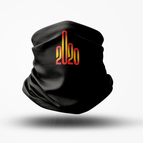 Image of 2020 Logo Middle Finger Gaiter Face Mask