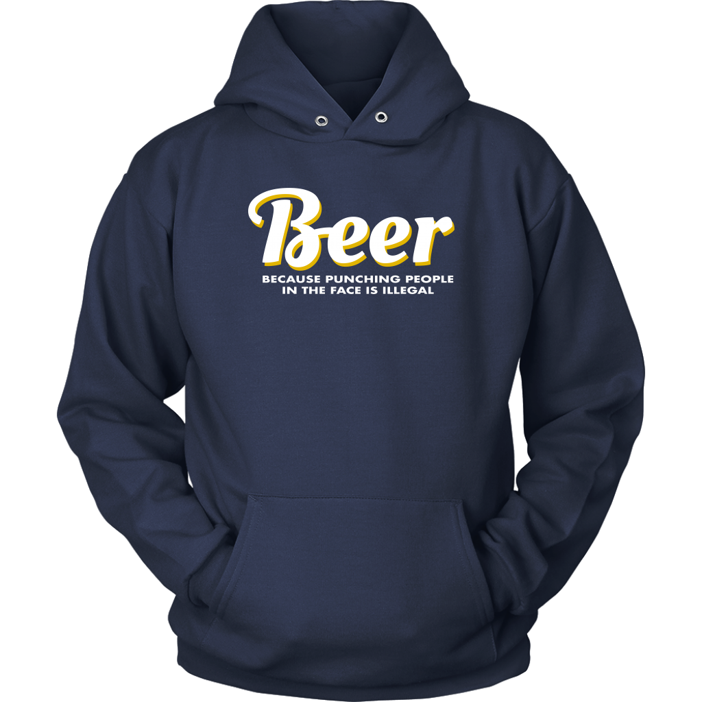 Beer Punching People Unisex Hoodie