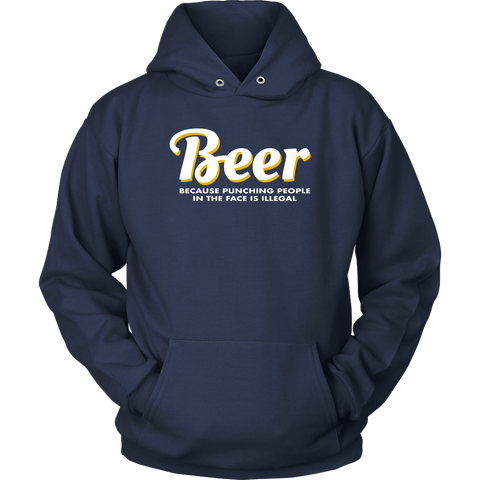 Image of Beer Punching People Unisex Hoodie