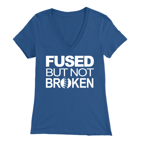 Image of Fused but not broken Women's V Neck