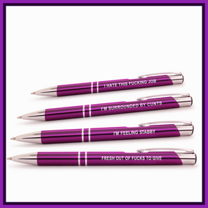Super Sweary Purple Pen Pack