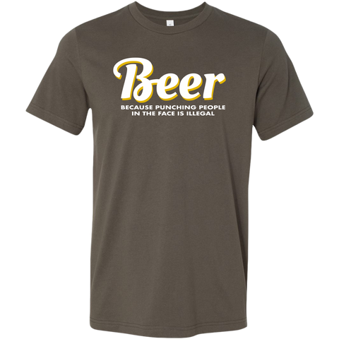 Image of Beer Punching People Men's T-Shirt