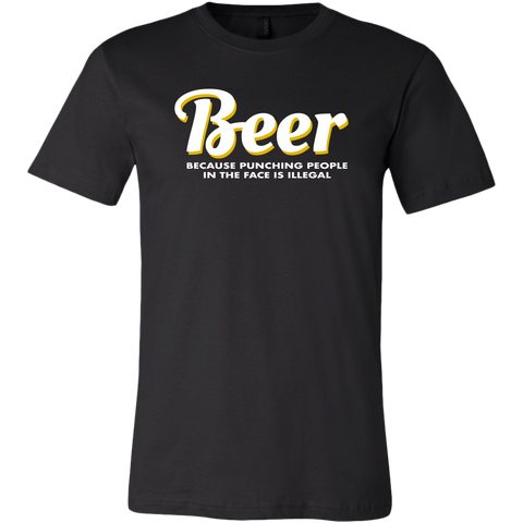 Beer Punching People Men's T-Shirt