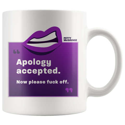 Apology Accepted. Now please fuck off Mug.