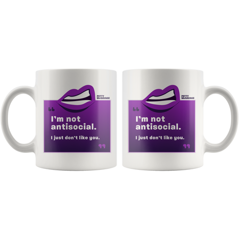 Image of I'm not antisocial Mug