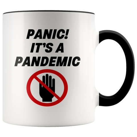 Image of Panic! It's a Pandemic Color Accent Mug