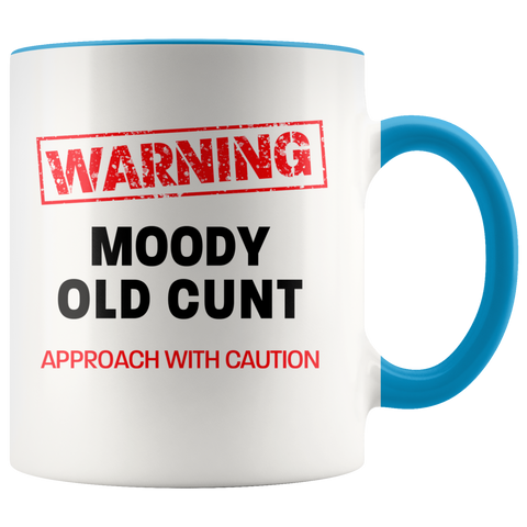 Moody Old Cunt Color Accent Mug