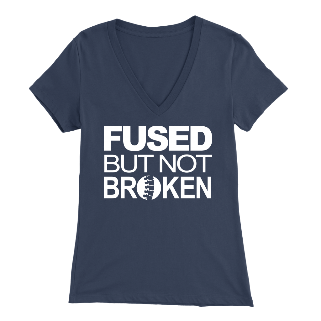 Fused but not broken Women's V Neck