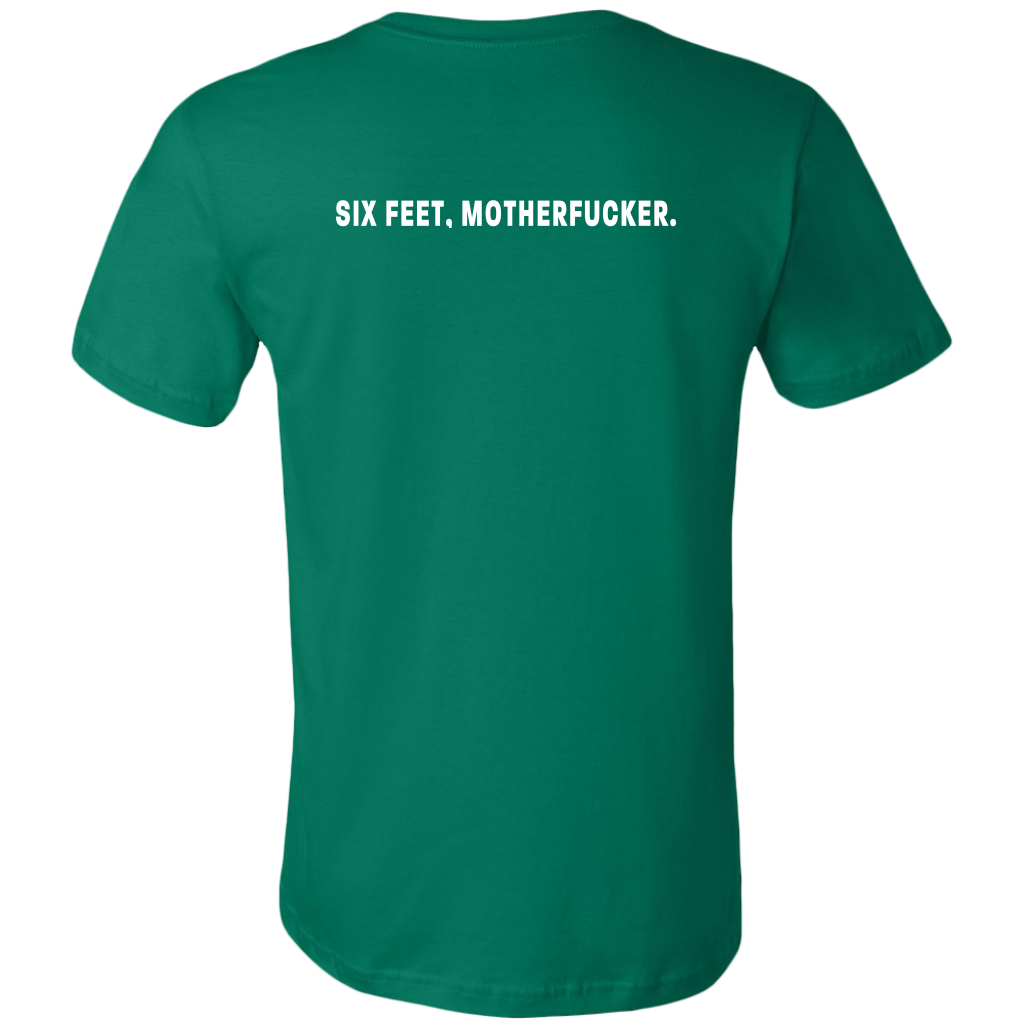 Six feet, Motherfucker Men's Double-Sided T-Shirt
