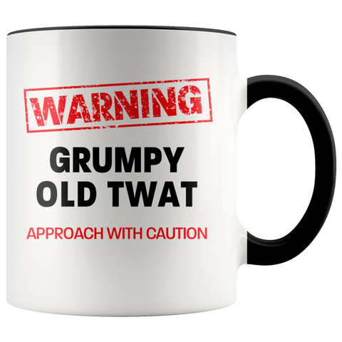 Image of Grumpy Old Twat Color Accent Mug