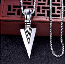 Load image into Gallery viewer, Arrow Head Pendant Long Chain Necklace - Eve Merch