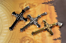Load image into Gallery viewer, Cross Pendant Necklace  in Gold, Silver and Black Cross - Eve Merch