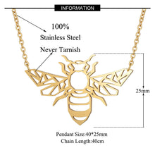 Load image into Gallery viewer, Bee Necklace Italian Design - Eve Merch
