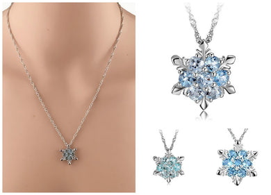 Fashion Women Crystal Zircon Snowflake Pendant Necklace - Eve Merch