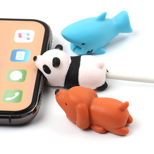 Cute animal chompers for iphone usb cable - Eve Merch