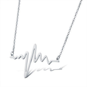 316L Stainless Steel Heartbeat Necklace - Eve Merch