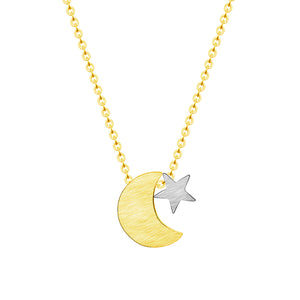 Stainless steel Star & Moon Necklace - Eve Merch