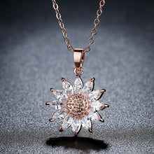 Load image into Gallery viewer, Big Sunflower Charm Necklaces Silver/Gold Color Stainless Steel Rhinestone Pendant - Eve Merch